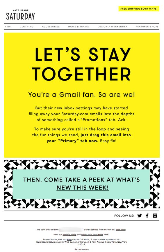 Kate-Spade-Activation-Email Salon Letters To Clients Template on mental health, thank you, complaint response,