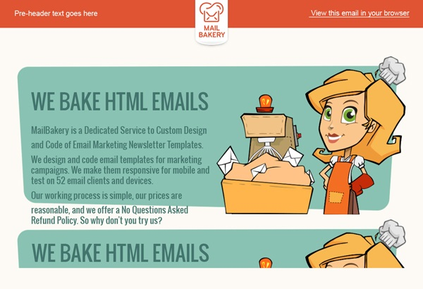 Big Differences Between Email And Web HTML MailBakery - Simple html email template code