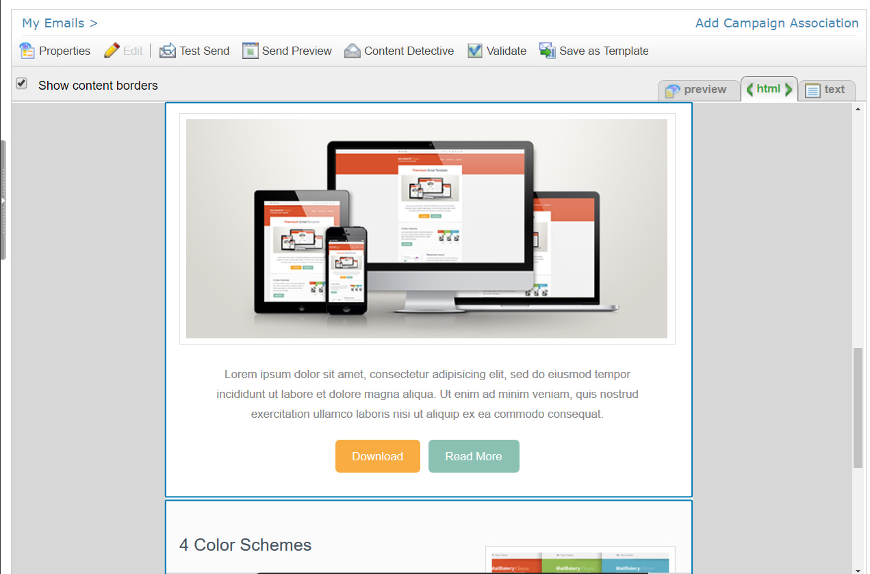 Best HTML Email Template Editors In Email Marketing Platforms - Send email html template