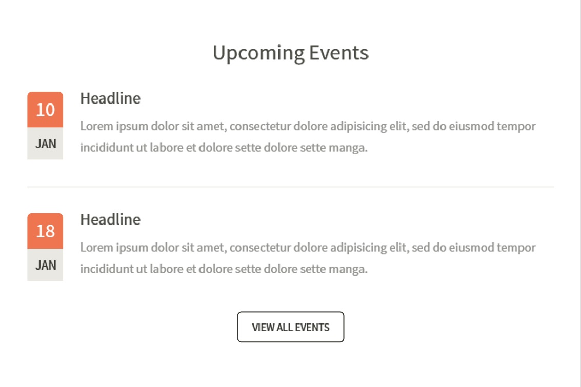 upcoming event notice template