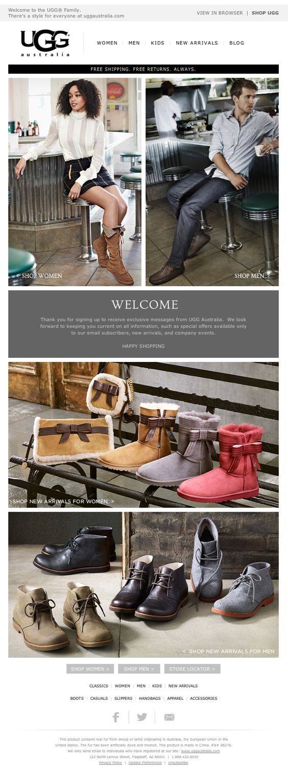 Excellent Examples Of Transactional HTML Emails MailBakery - Free custom invoice template official ugg outlet online store