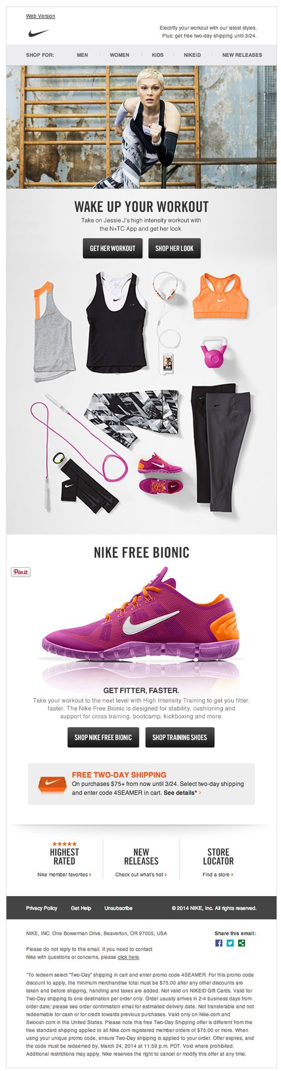 25 Examples of Sportswear Brands' Marketing Emails - MailBakery